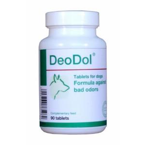 Деодоль (DeoDol) препарат, нейтрализующий неприятные запахи и регулирующий пищеварительные процессы собаки.