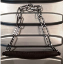 Ошейник-цепочка из стали с кожаным кадыком